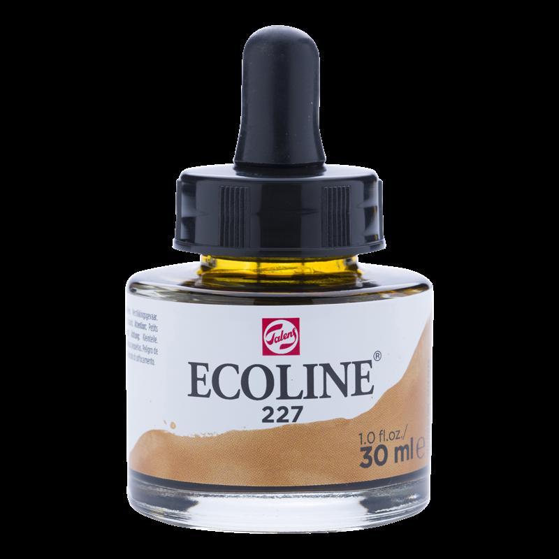 Ecoline Vloeibare Waterverf Flacon 30 ml Gele Oker 227