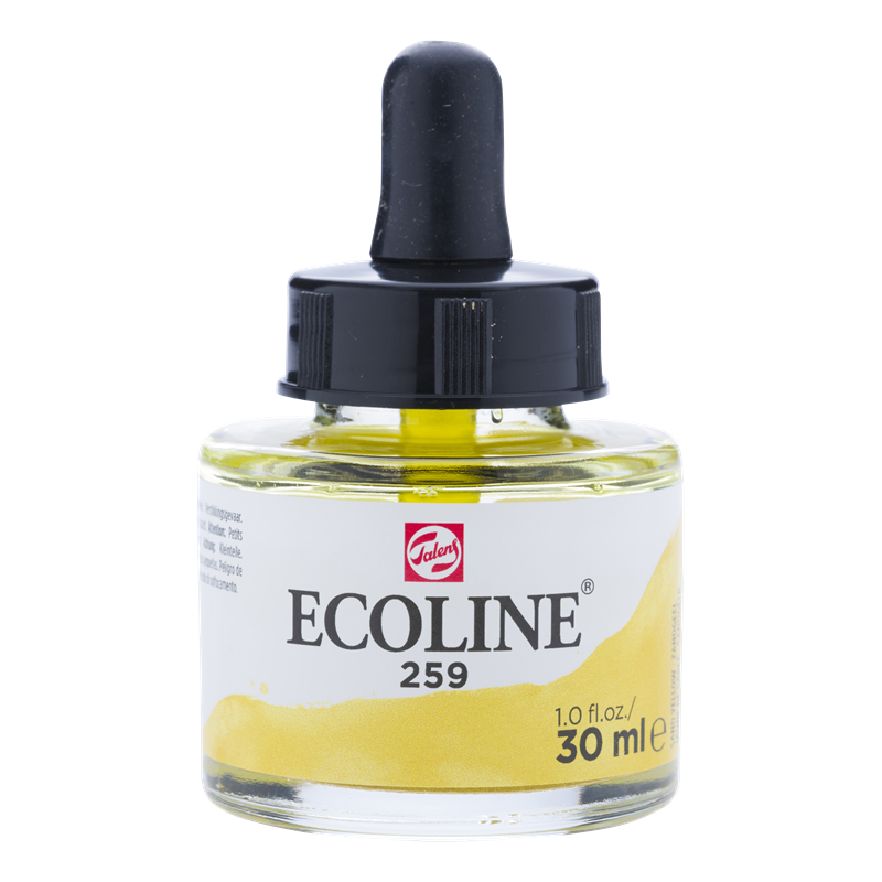 Ecoline Vloeibare Waterverf Flacon 30 ml Zandgeel 259