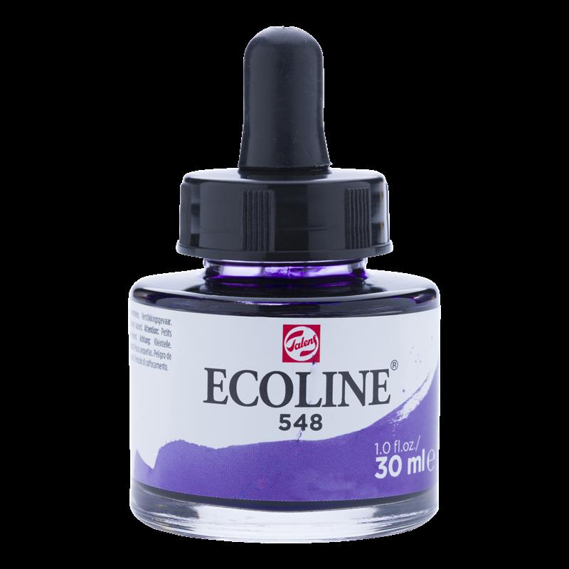 Ecoline Vloeibare Waterverf Flacon 30 ml Blauwviolet 548