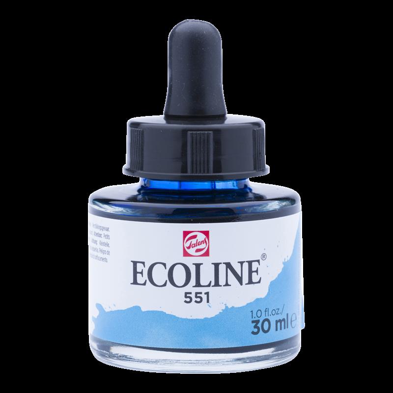 Ecoline Vloeibare Waterverf Flacon 30 ml Hemelsblauw Licht 551