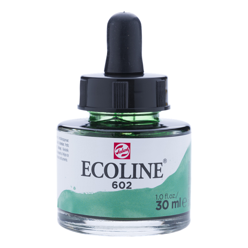 Ecoline Vloeibare Waterverf Flacon 30 ml Donkergroen 602