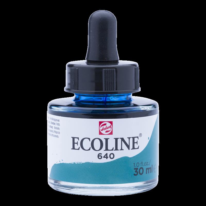 Ecoline Vloeibare Waterverf Flacon 30 ml Blauwgroen 640