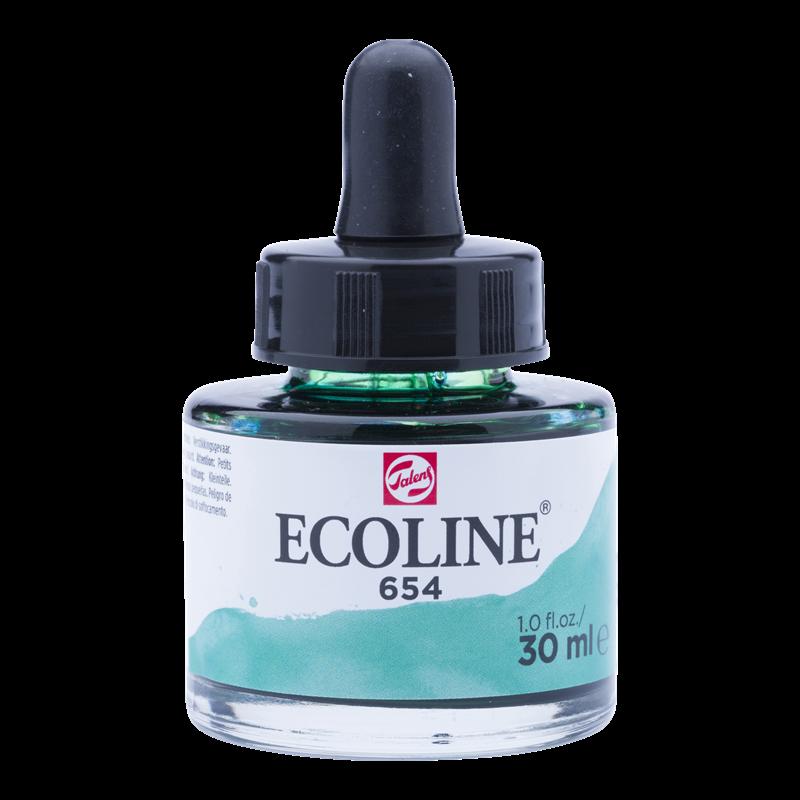Ecoline Vloeibare Waterverf Flacon 30 ml Dennengroen 654