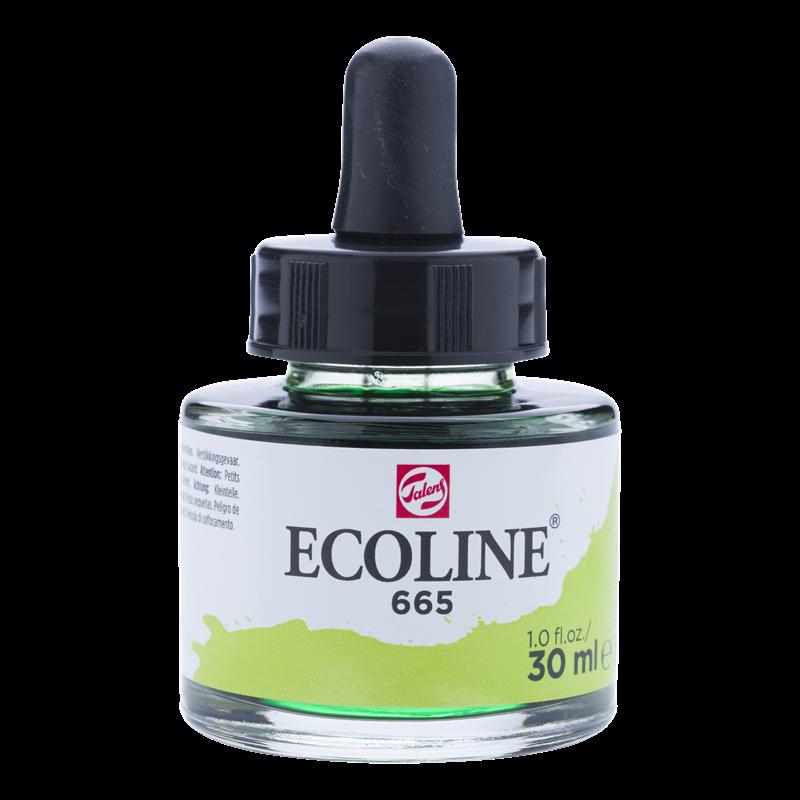 Ecoline Vloeibare Waterverf Flacon 30 ml Lentegroen 665