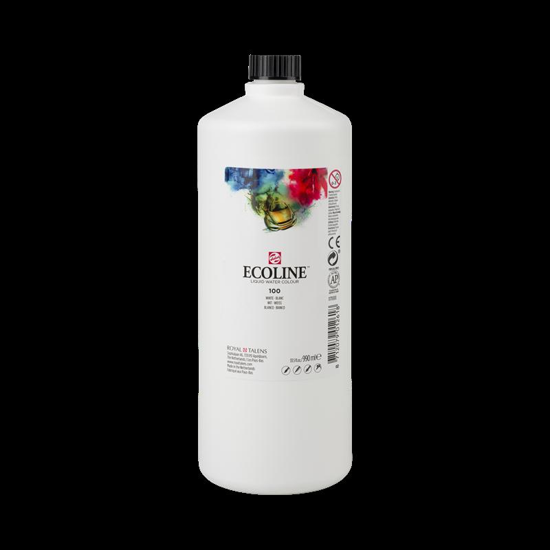 Ecoline Vloeibare Waterverf Flacon 990 ml Wit 100