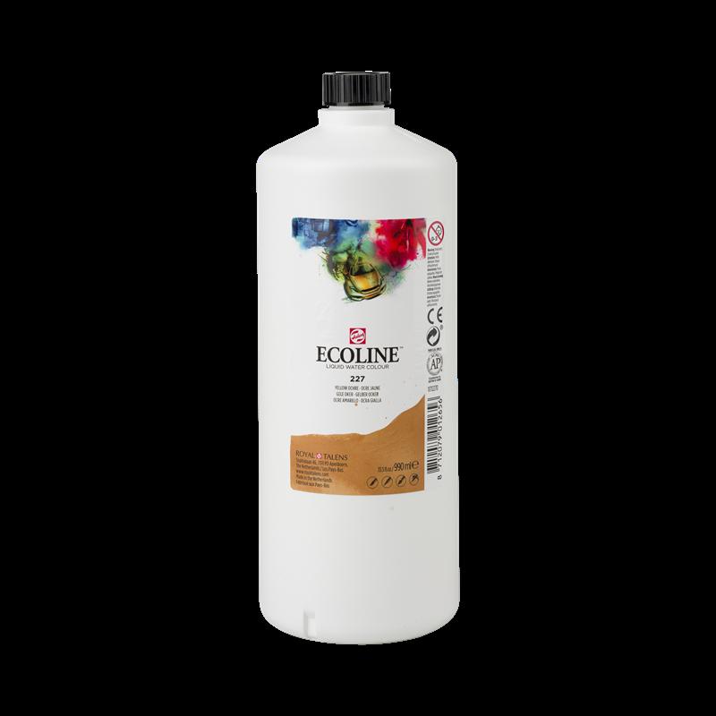 Ecoline Vloeibare Waterverf Flacon 990 ml Gele Oker 227