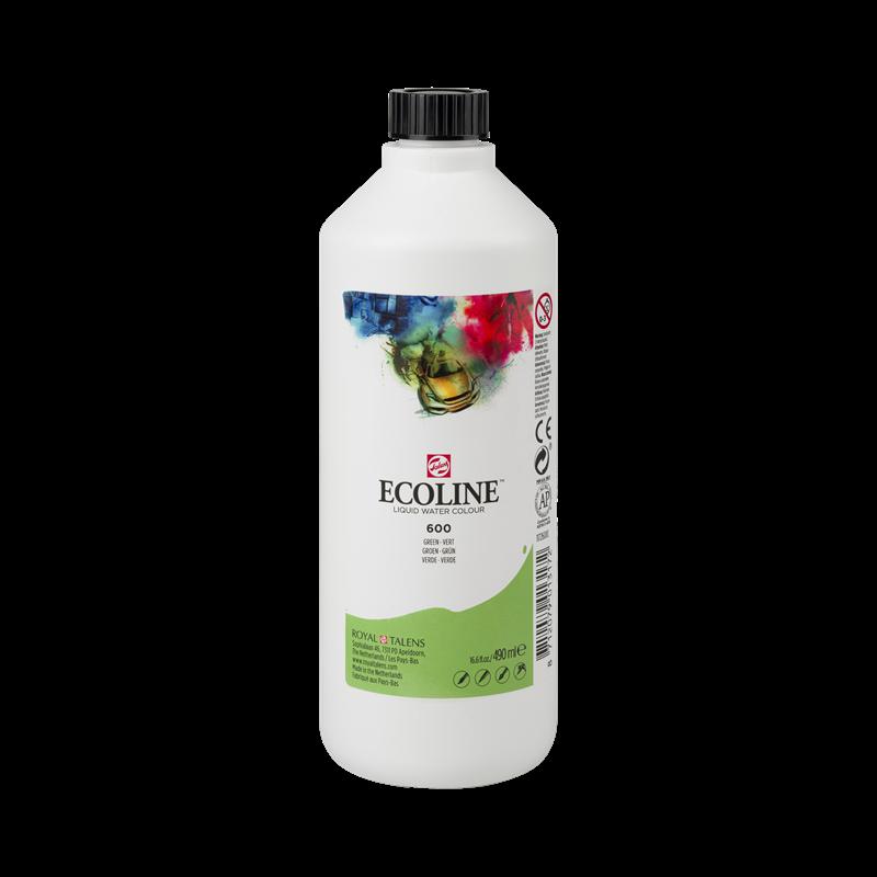 Ecoline Vloeibare Waterverf Flacon 490 ml Groen 600