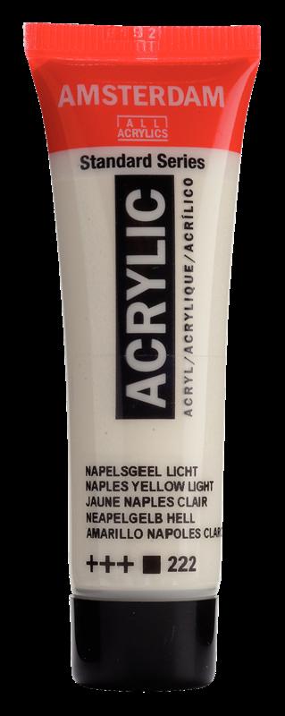 Amsterdam Standard Series Acrylverf Tube 20 ml Napelsgeel Licht 222