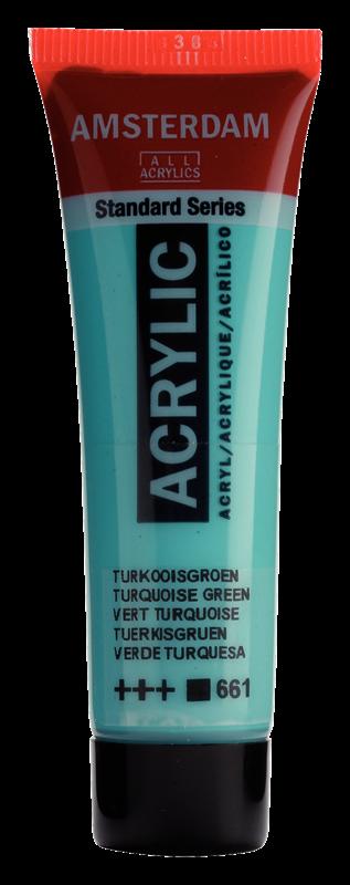 Amsterdam Standard Series Acrylverf Tube 20 ml Turkooisgroen 661