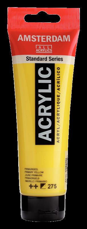 Amsterdam Standard Series Acrylverf Tube 120 ml Primairgeel 275