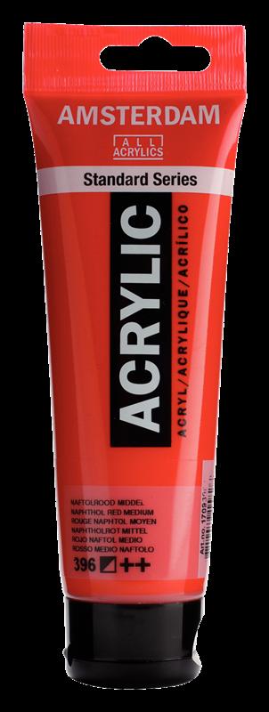 Amsterdam Standard Series Acrylverf Tube 120 ml Naftolrood Middel 396
