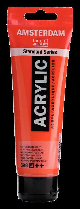 Amsterdam Standard Series Acrylverf Tube 120 ml Naftolrood Licht 398