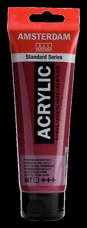 Amsterdam Standard Series Acrylverf Tube 120 ml Permanentroodviolet 567