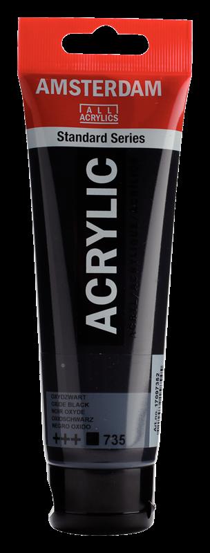Amsterdam Standard Series Acrylique Tube 120 ml Noir oxyde 735