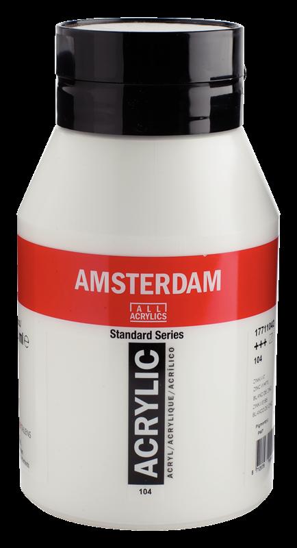 Amsterdam Standard Series Acrylverf Pot 1000 ml Zinkwit 104