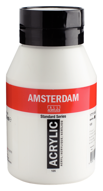 Amsterdam Standard Series Acrylverf Pot 1000 ml Titaanwit 105