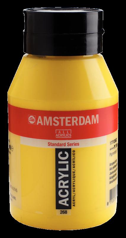 Amsterdam Standard Series Acrylverf Pot 1000 ml Azogeel Licht 268
