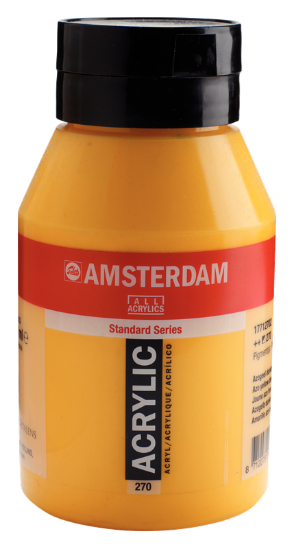 Amsterdam Standard Series Acrylverf Pot 1000 ml Azogeel Donker 270