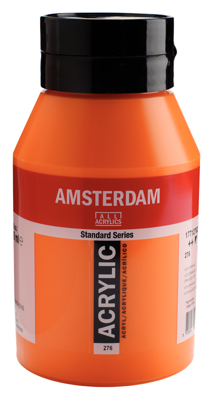 Amsterdam Standard Series Acrylverf Pot 1000 ml Azo-Oranje 276