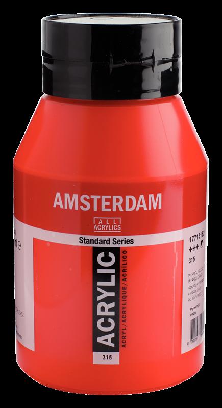 Amsterdam Standard Series Acrylverf Pot 1000 ml Pyrrolerood 315