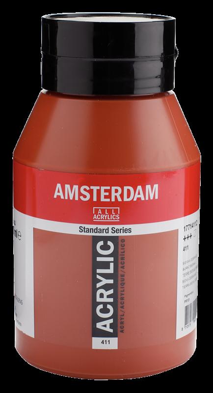 Amsterdam Standard Series Acrylverf Pot 1000 ml Sienna Gebrand 411