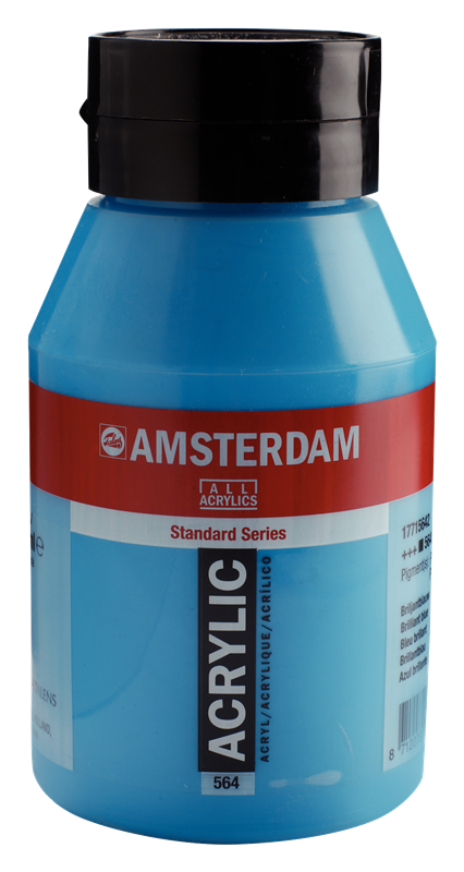Amsterdam Standard Series Acrylverf Pot 1000 ml Briljant Blauw 564