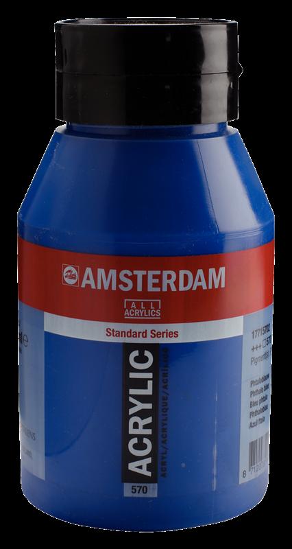Amsterdam Standard Series Acrylverf Pot 1000 ml Phtaloblauw 570