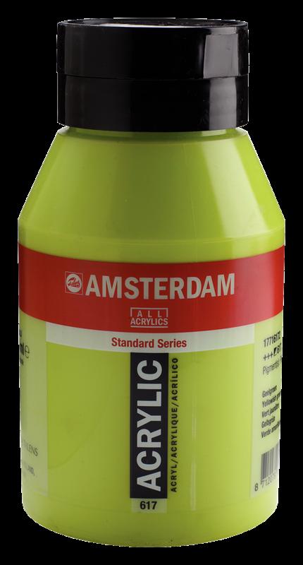 Amsterdam Standard Series Acrylverf Pot 1000 ml Geelgroen 617