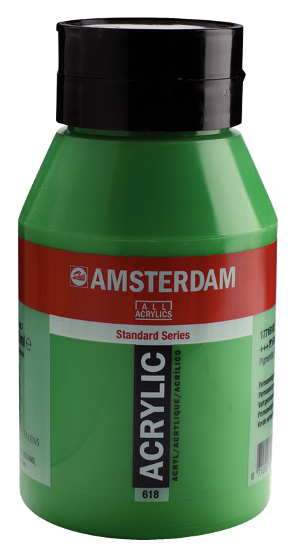 Amsterdam Standard Series Acrylverf Pot 1000 ml Permanentgroen Licht 618