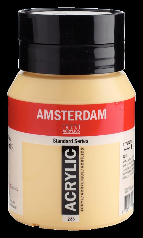 Amsterdam Standard Series Acrylverf Pot 500 ml Napelsgeel Donker 223