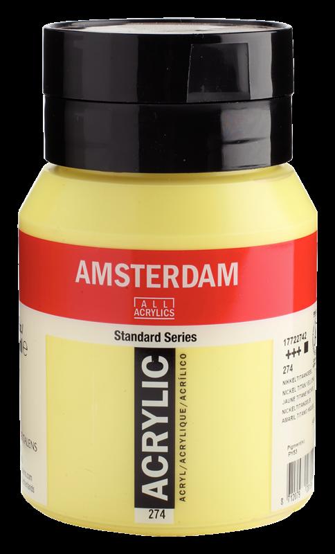 Amsterdam Standard Series Acrylverf Pot 500 ml Nikkeltitaangeel 274