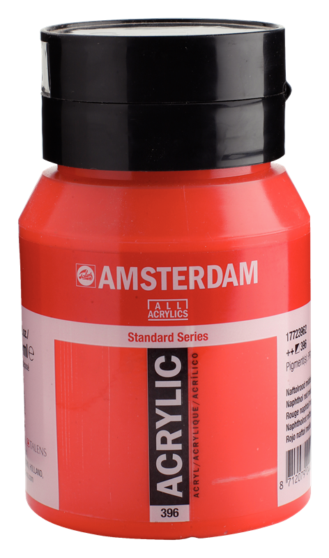 Amsterdam Standard Series Acrylverf Pot 500 ml Naftolrood Middel 396