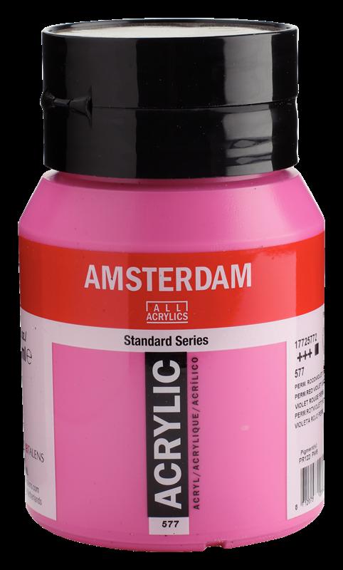 Amsterdam Standard Series Acrylverf Pot 500 ml Permanentroodviolet Licht 577