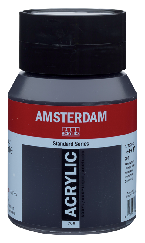 Amsterdam Standard Series Acrylverf Pot 500 ml Payne's Grijs 708