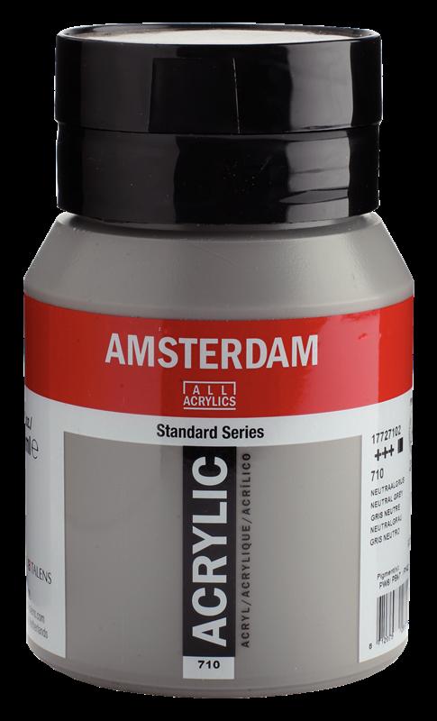 Amsterdam Standard Series Acrylverf Pot 500 ml Neutraalgrijs 710