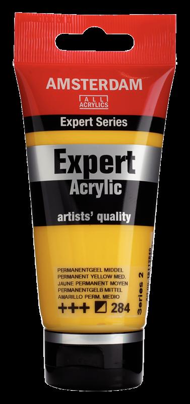 Amsterdam Expert Series Acrylverf Tube 75 ml Permanentgeel Middel 284