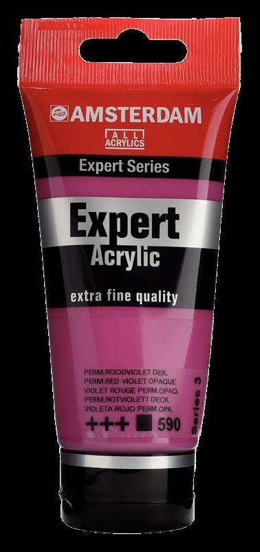 Amsterdam Expert Series Acrylverf Tube 75 ml Permanentroodviolet Dekkend 590