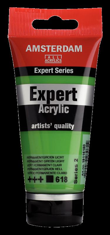 Amsterdam Expert Series Acrylverf Tube 75 ml Permanentgroen Licht 618