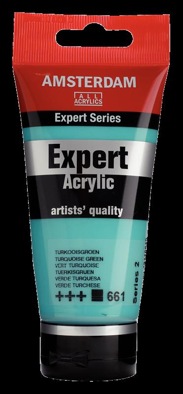 Amsterdam Expert Series Acrylverf Tube 75 ml Turkooisgroen 661