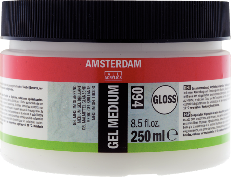 Amsterdam Gel Medium Glanzend Pot 250 ml