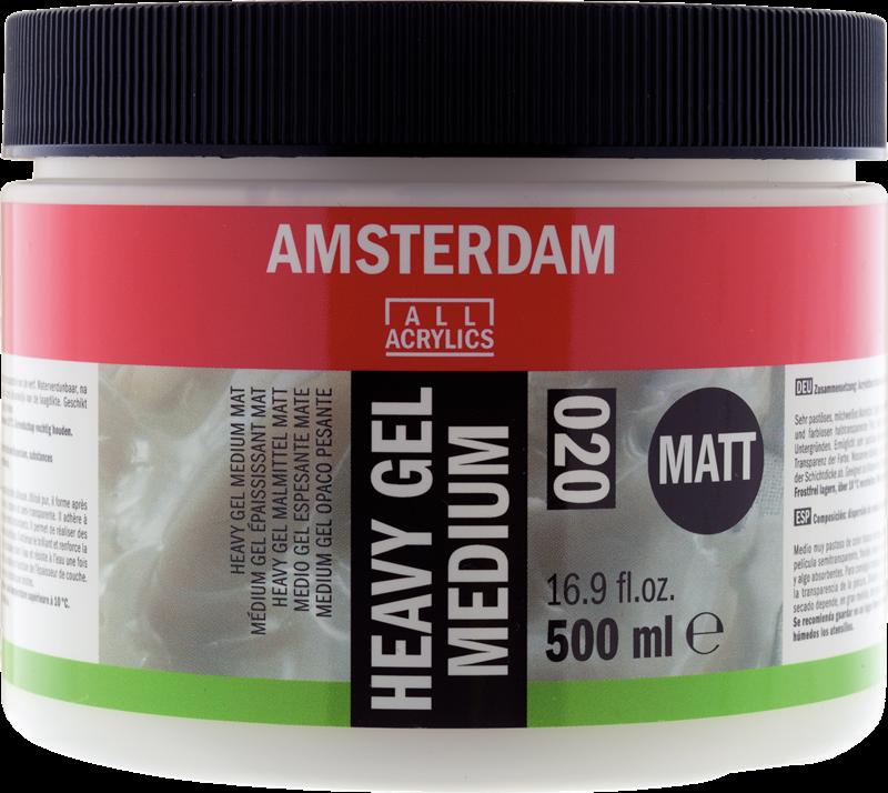 Amsterdam Heavy Gel Medium Mat Pot 500 ml