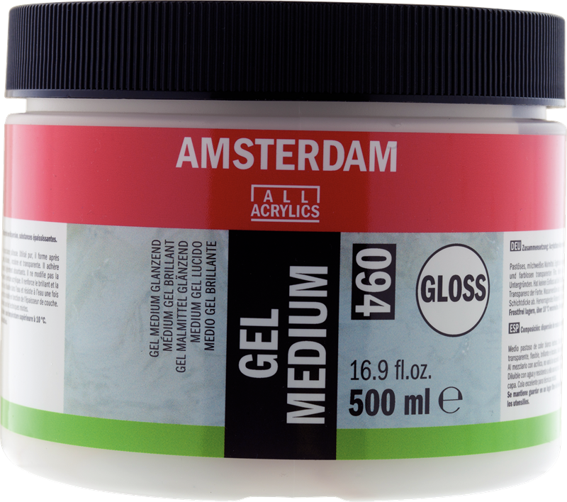 Amsterdam Gel Medium Glanzend Pot 500 ml