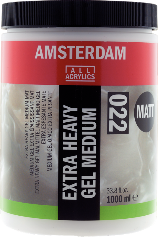 Amsterdam Extra Heavy Gel Medium Mat Pot 1000 ml