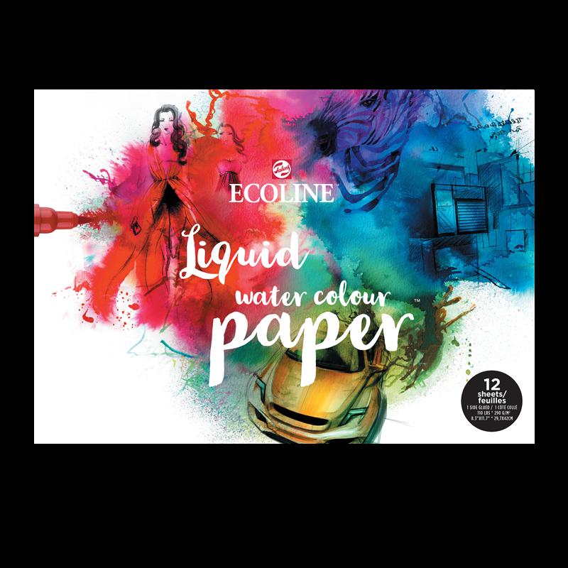 Ecoline Papierblok A3, 290 gr ,12 vellen,  FSC-MIX