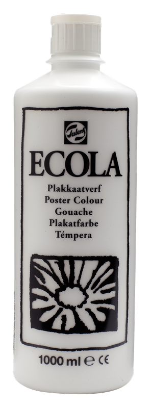 Ecola Plakkaatverf Flacon 1000 ml Wit 100