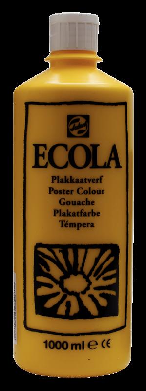 Ecola Plakkaatverf Flacon 1000 ml Geel 200