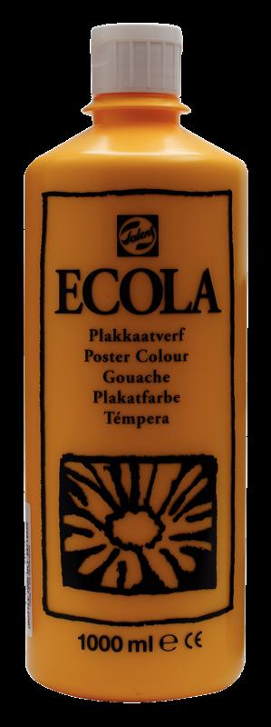 Ecola Plakkaatverf Flacon 1000 ml Donkergeel 202