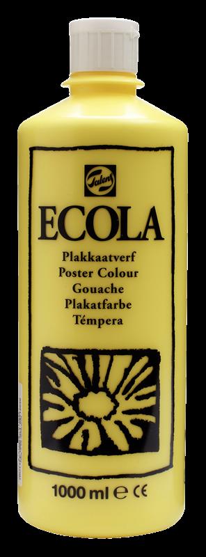 Ecola Plakkaatverf Flacon 1000 ml Citroengeel 205