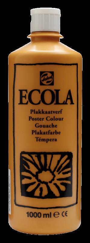 Ecola Plakkaatverf Flacon 1000 ml Gele Oker 227