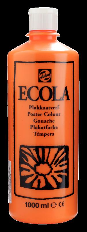 Ecola Plakkaatverf Flacon 1000 ml Oranje 235